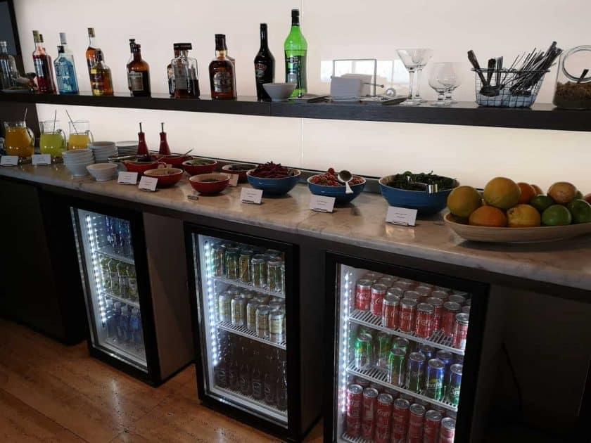 LATAM Lounge SCL Getraenke