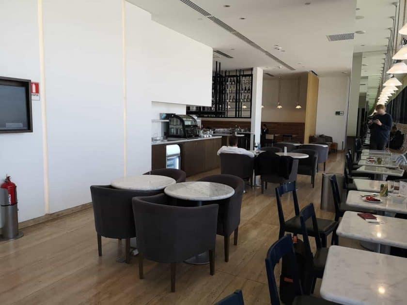LATAM Lounge SCL Sitze oben