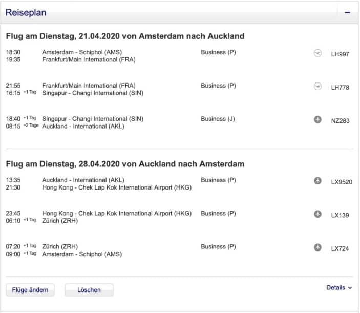 LH AMS AKL EUR2734 Deutsch