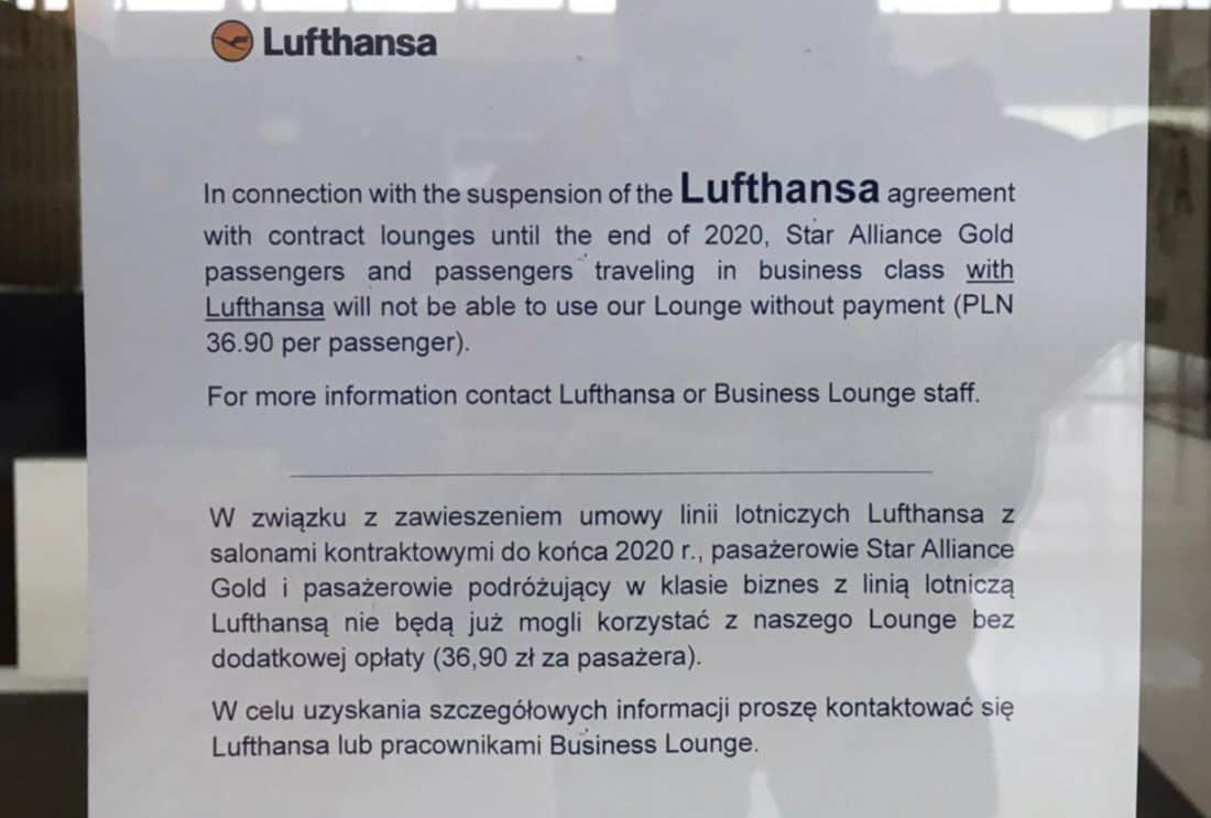 LH Partnerlounges Aushang