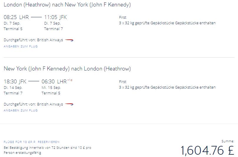 LHR JFK 1780