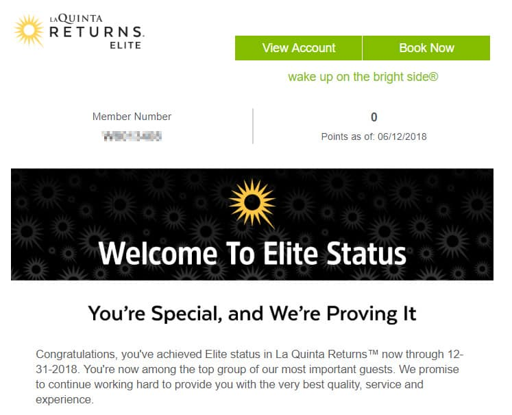 La quinta Returns Elite