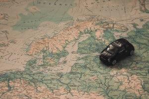 Landkarte mit Auto (Map)