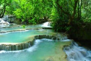 Laos Wasserfall