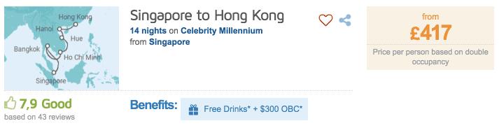 Logitravel Singapur Hong Kong Kreuzfahrt