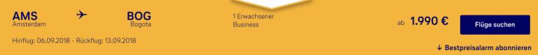 Lufthansa AMS-BOG Buisiness