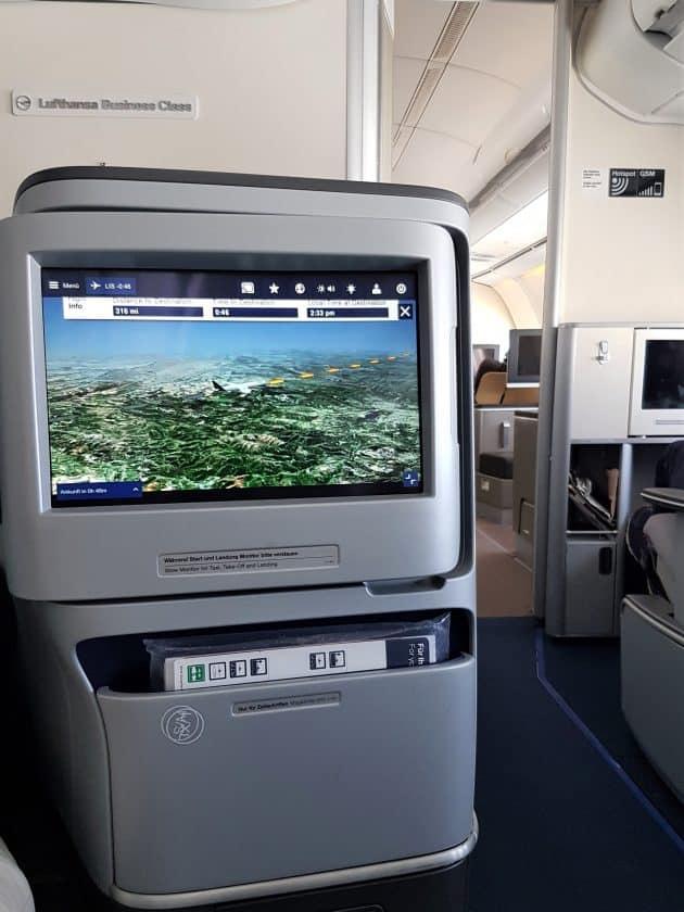 Lufthansa Business Class Bildschrim A340
