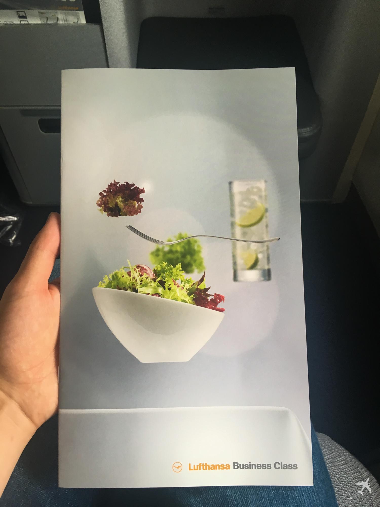 Lufthansa Business Class Menü