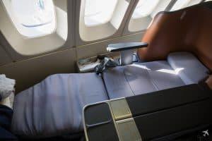 Lufthansa Business Class Sitze Liegeposition