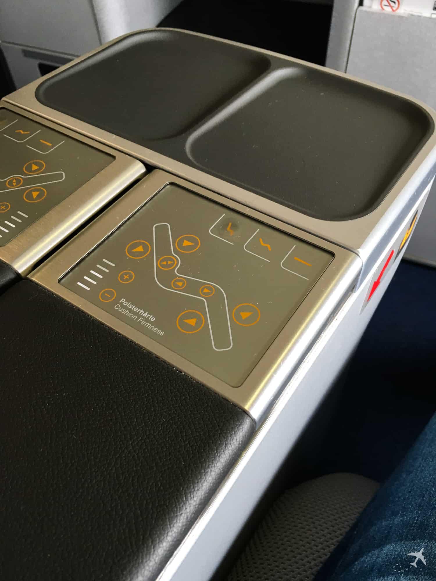 Lufthansa Business Class Sitzeinstellungen