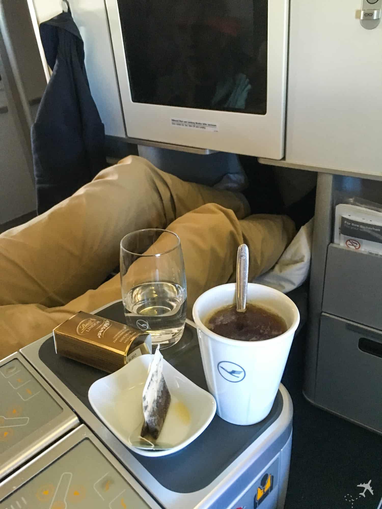 Lufthansa Business Class Sitznachbar