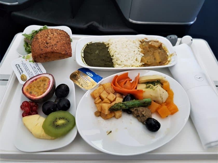 Lufthansa Business Class Vegetarisches Essen