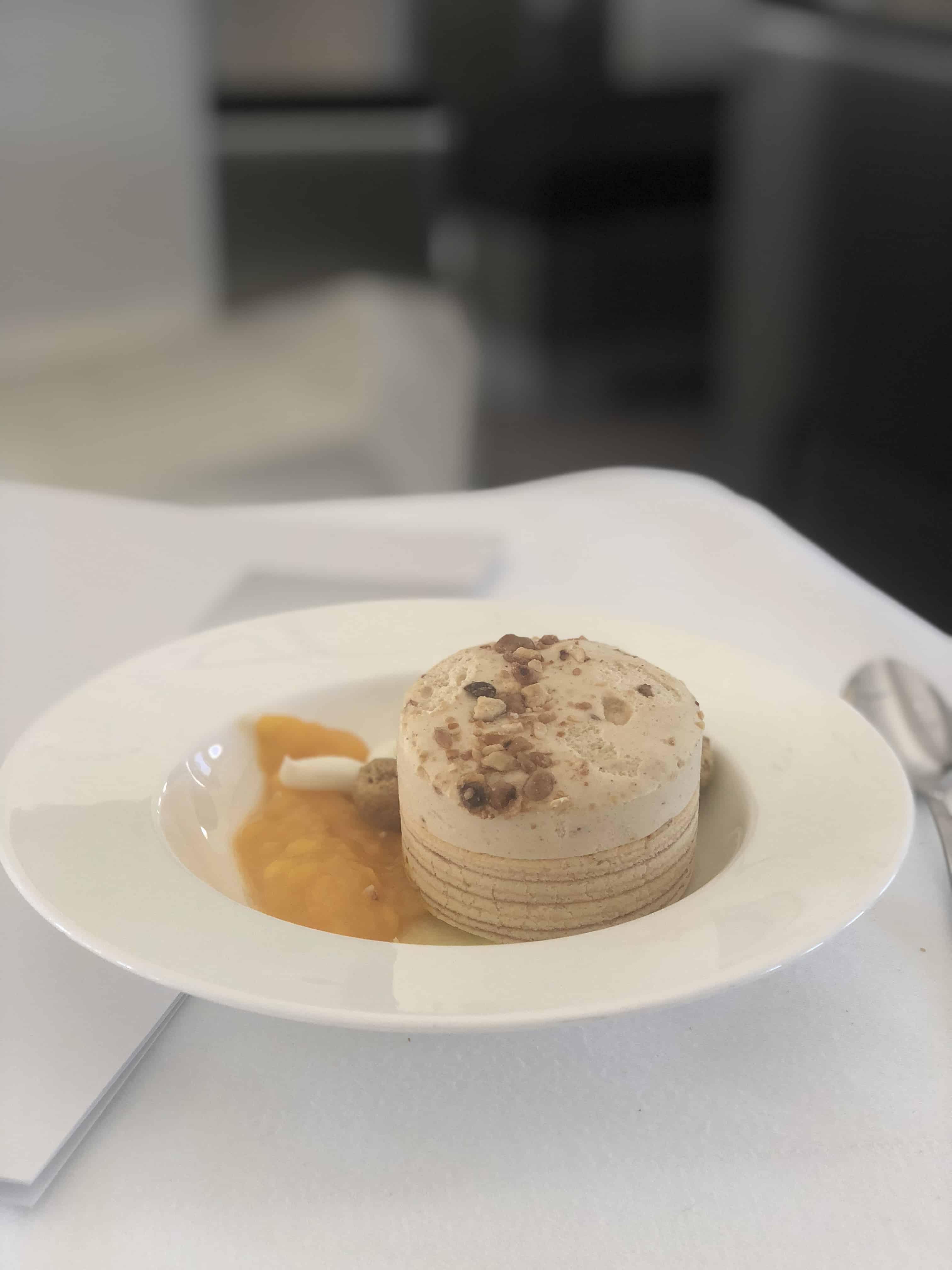 Lufthansa First Class Essen Dessert