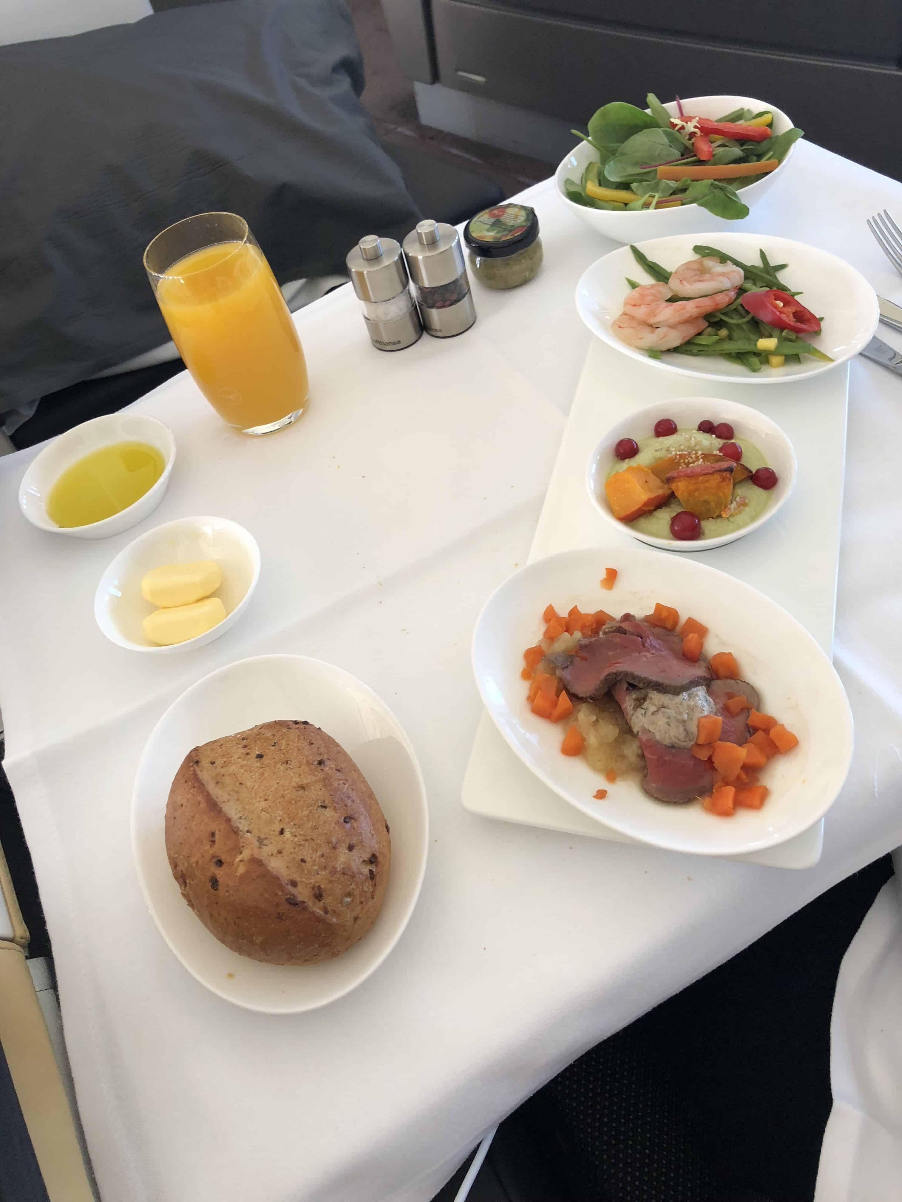 Lufthansa First Class Essen Vorspeisen