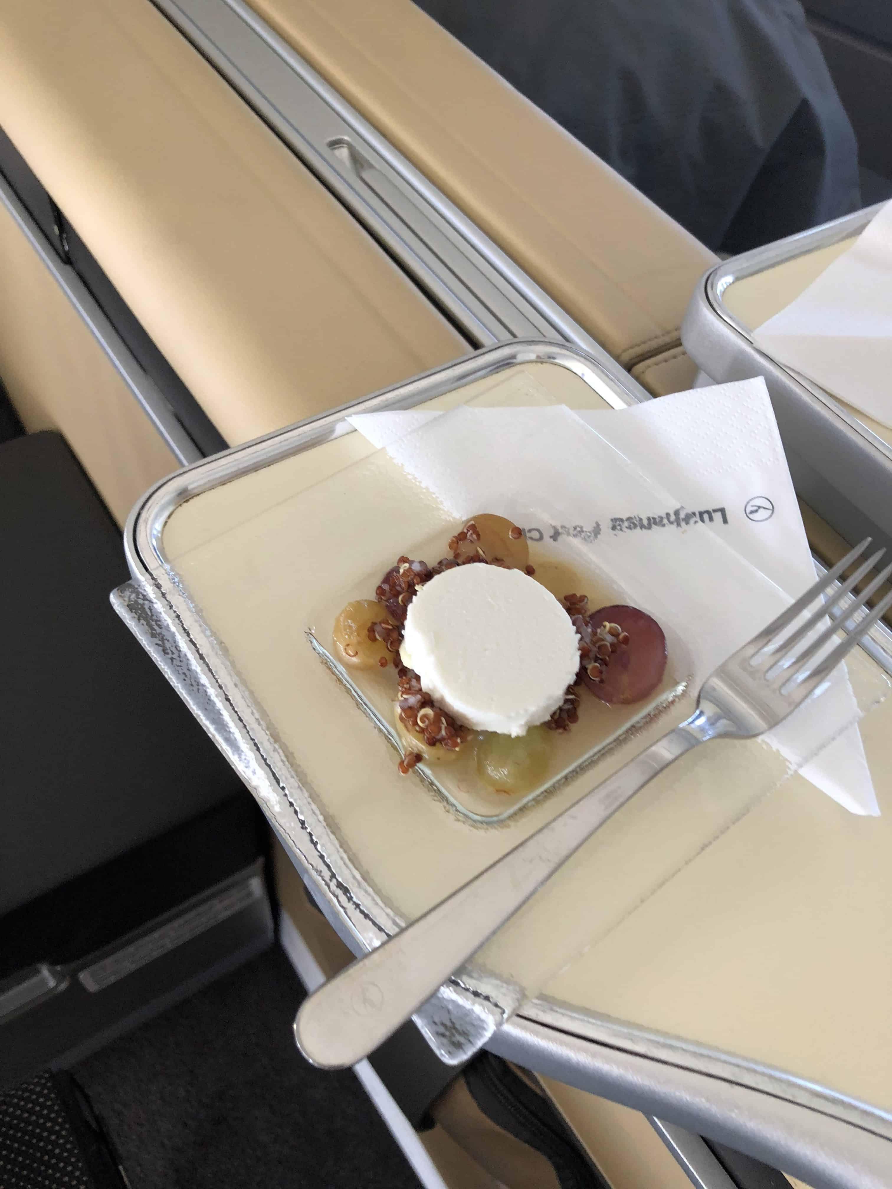 Lufthansa First Class Gruss aus der Küche