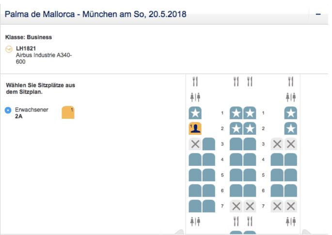 Lufthansa First Class PMI-MUC Frankfurtflyer