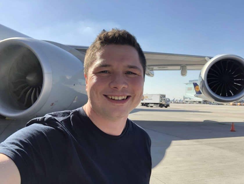 Lufthansa First Class Triebwerk