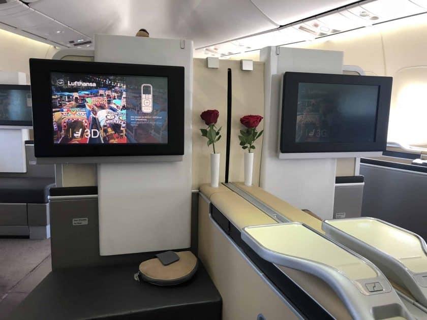 Lufthansa First Kabine Doppelsitz