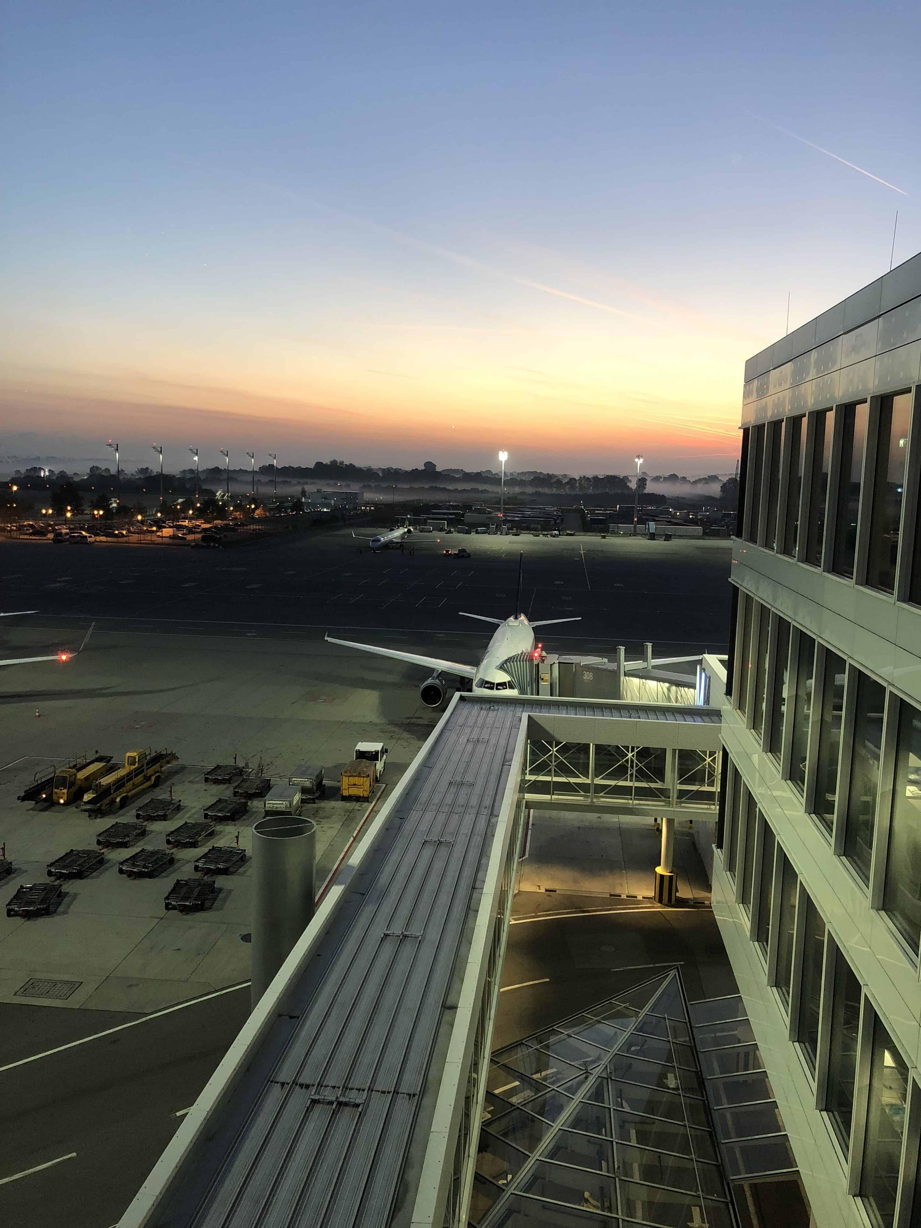 Lufthansa First Lounge MUC Ausblick
