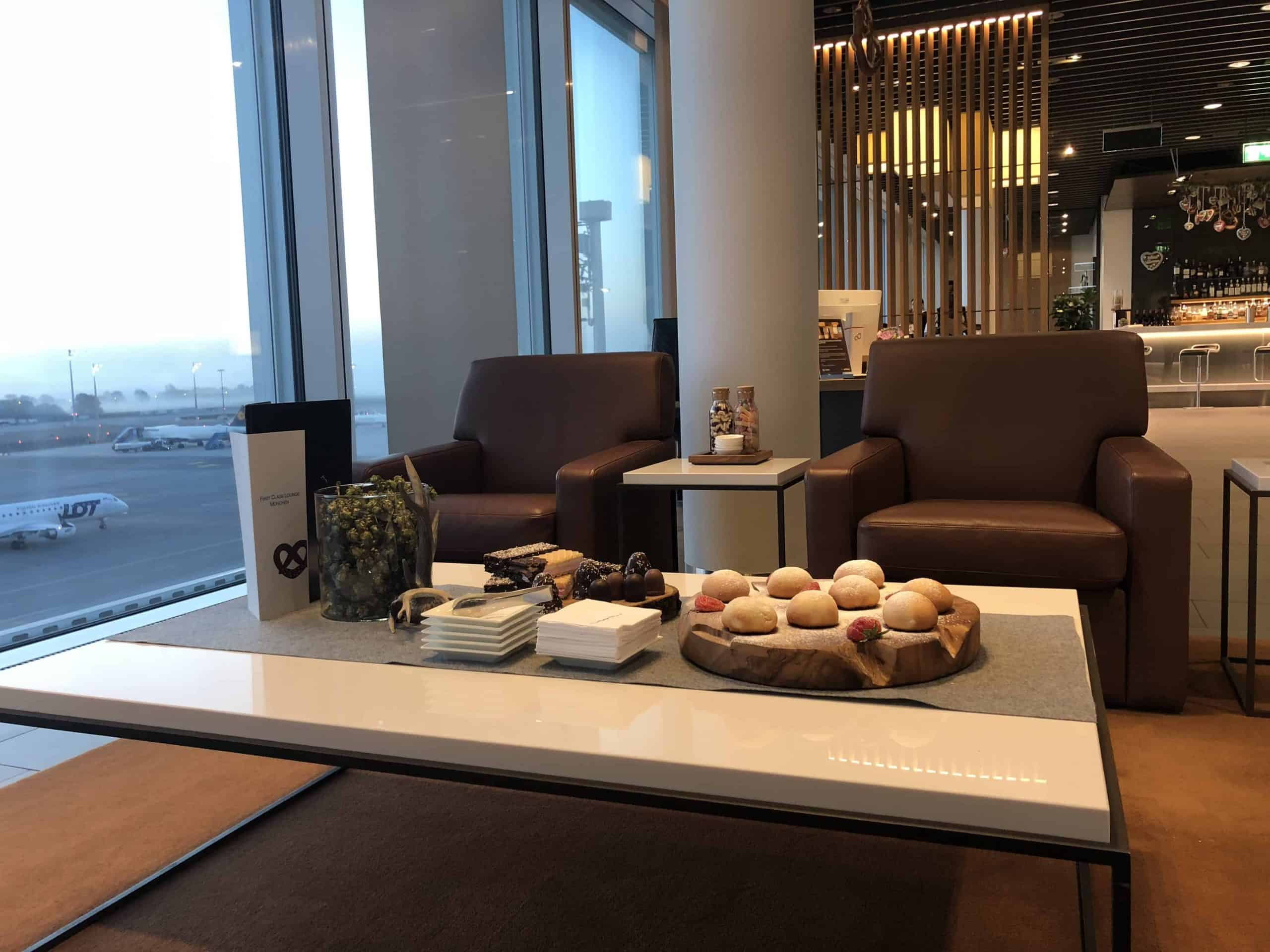 Lufthansa First Lounge MUC Sessel