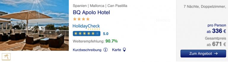 Lufthansa Holdays BQ Apolo Hotel