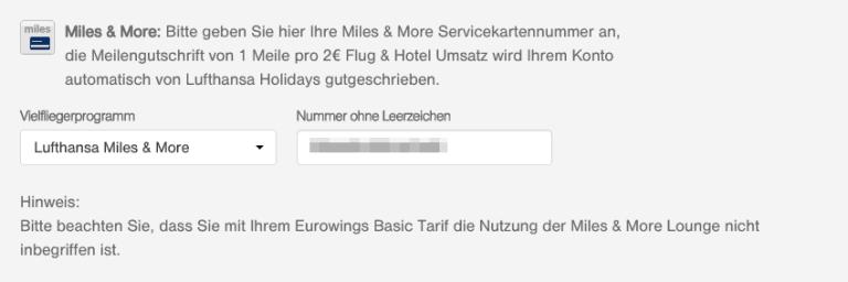 Lufthansa Holidays Meilen