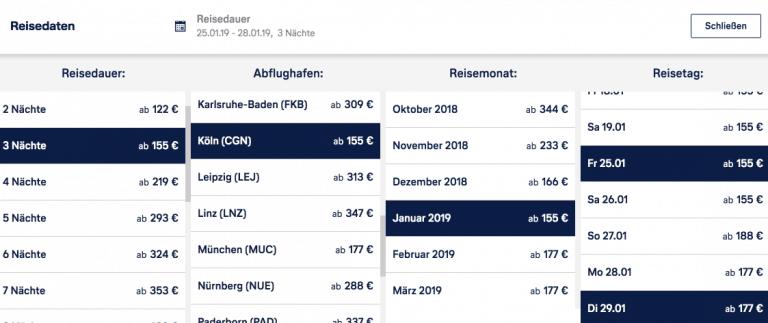 Lufthansa Holidays Preissuche London