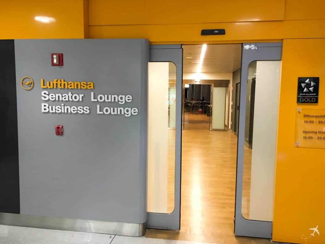 Lufthansa Lounge New York JFK Eingang