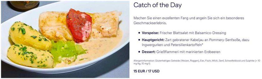 Lufthansa Menü a la Carte Option 5