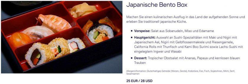 Lufthansa Menü a la Carte Option 6