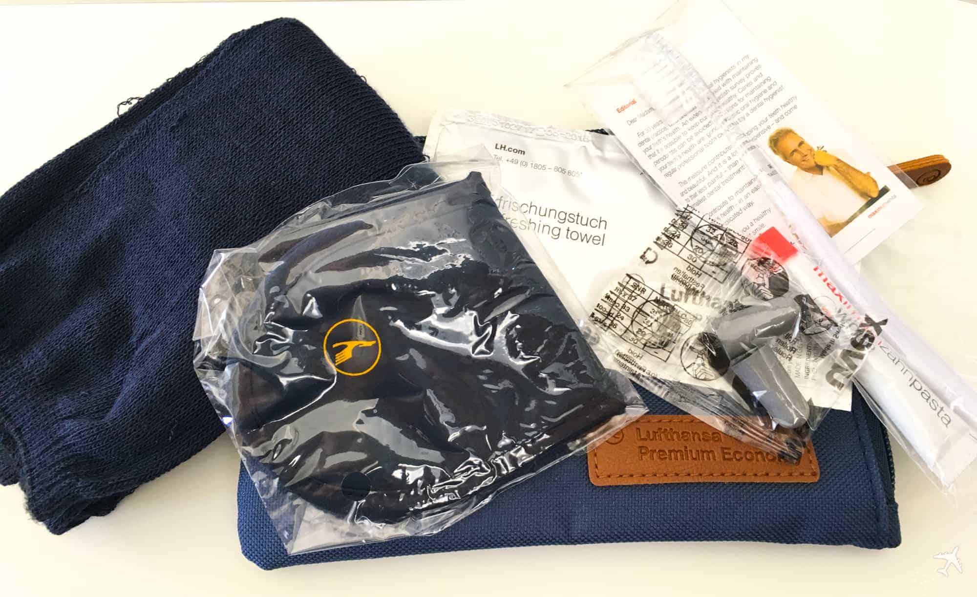 Lufthansa Premium Economy Class Amenity Kit Inhalt
