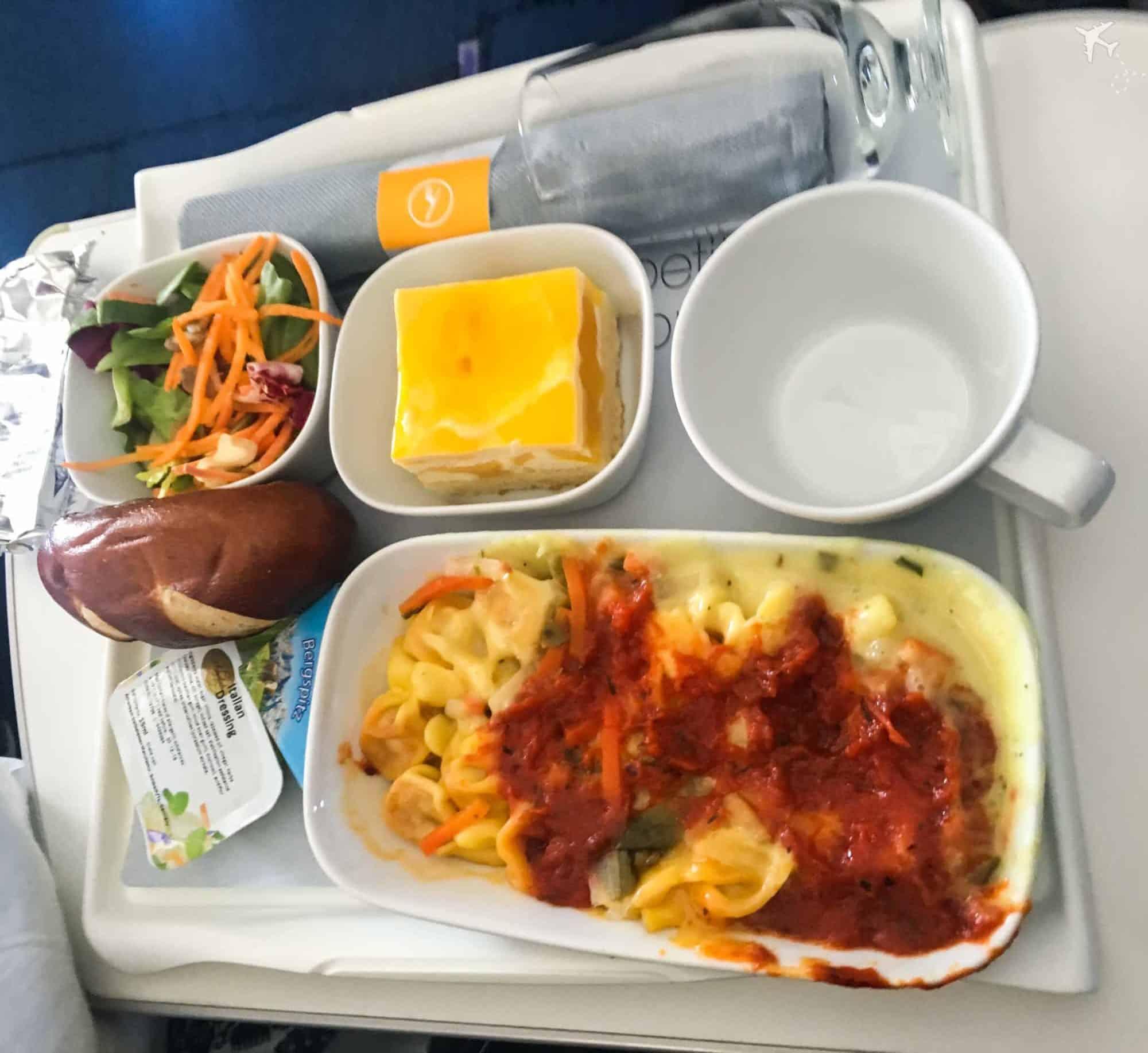 Lufthansa Premium Economy Class Mittagessen