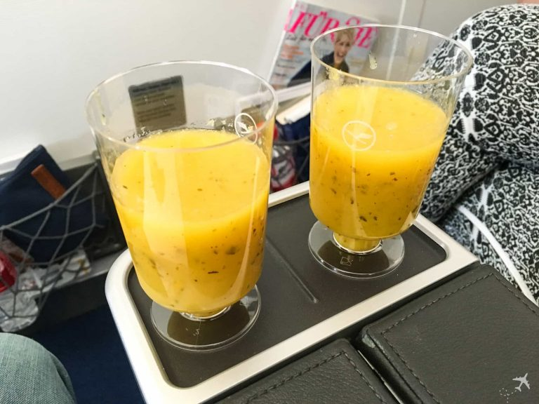 Lufthansa Premium Economy Class Welcome Drink