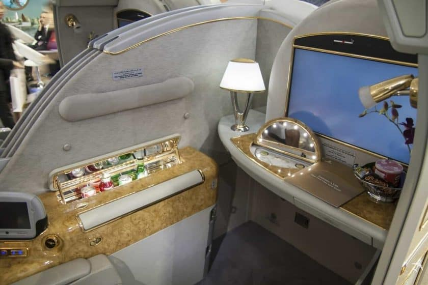 Emirates First Class Suite Vorne