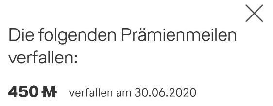 MM Praemienmeilen Verfall