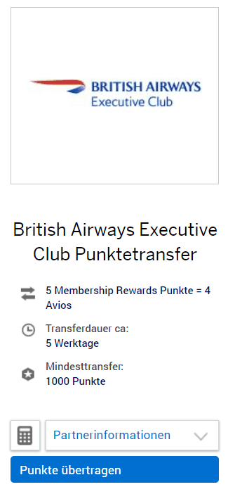 MR Amex executive club transfer