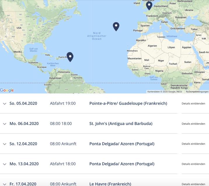 MSC Transatlantikkreuzfahrt