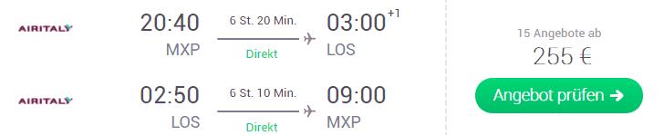 MXP LOS airitaly 255