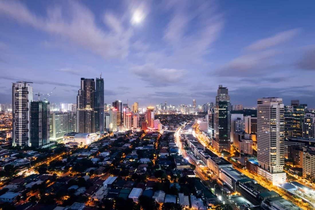 Makati Skyline, Manila, Phillipinen