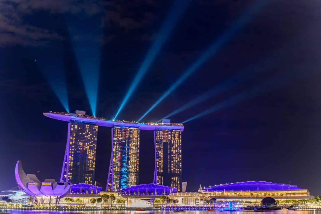 Marina Bay Sands Lightshow Singapur