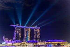 Marina Bay Sands Lightshow Singapur