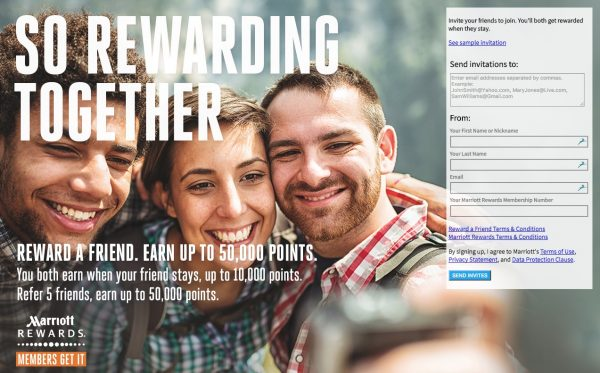 Marriott Rewards Freundschaftswerbung