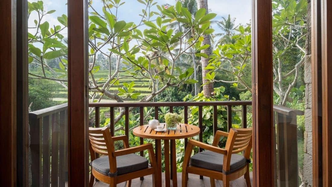 Maya Resort Ubud Forrestsuite Balkon