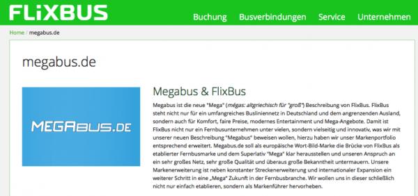 Megabus.de Flixbus
