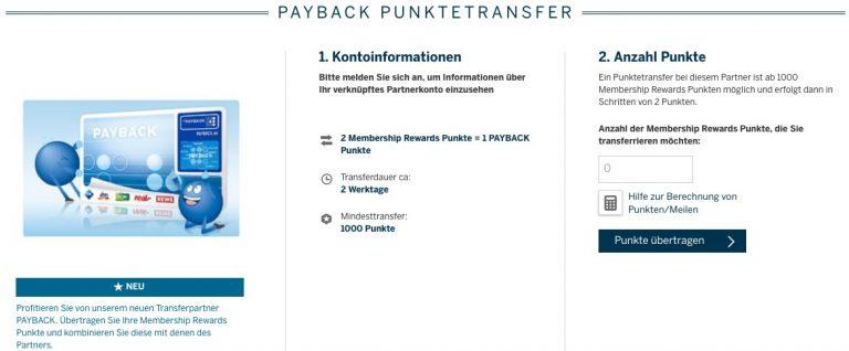 Memebrship Rewards Transfer Payback