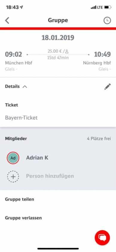 Mitfahrer App Gruppe angeboten
