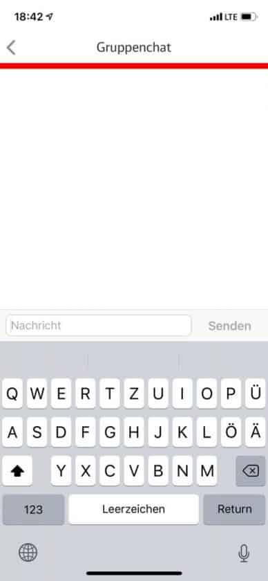 Mitfahrer App Gruppenchat