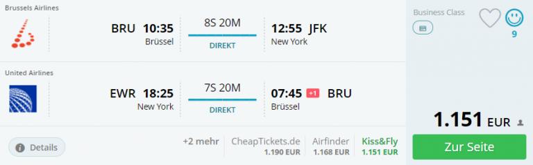 Momondo BRU-JFK Direktflug