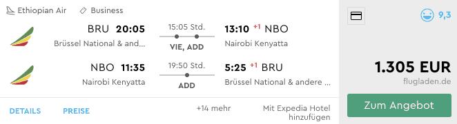Momondo BRU-NBO Ethiopian
