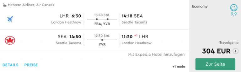 Momondo LHR-SEA Lufthansa